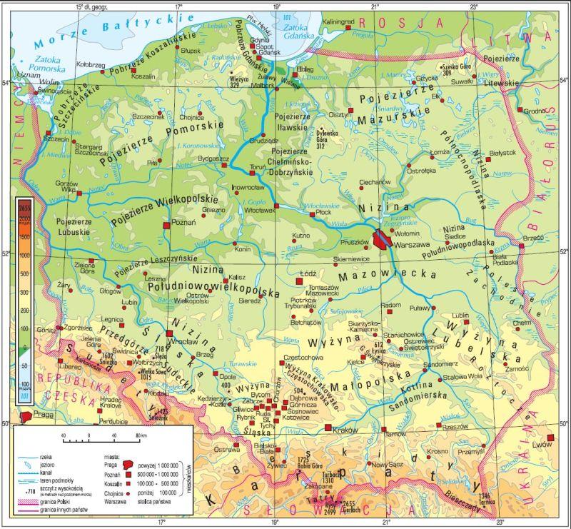Krainy Geograficzne W Polsce Gozych Strona Nauczyciela